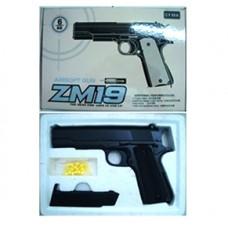 Пистолет CYMA ZM19 с пульками метал.кор.21,6*13,5