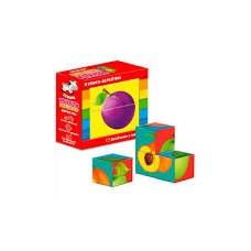 Дерев'яні кубики. Фрукти ZB1001-04 (укр)