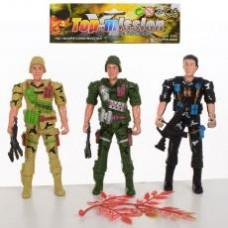 Солдат 8015-4 ( 3шт, 12,5см, оружие, в кульке, 16-17-2см