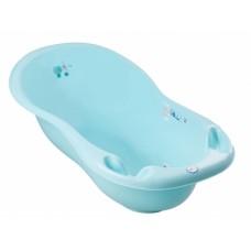 """Ванночка 102 см LUX зі зливом """"Пес і Кіт"""" з термометром (Блакитний)/""""TEGA"""""""