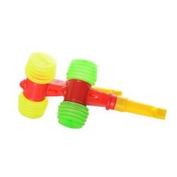 Молоточек 688-4A звук(пищалка), свисток, 2 цвета, в кульке, 6,5-10,5-3см
