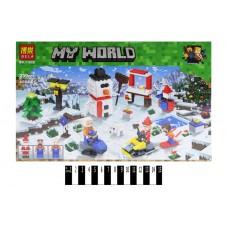 """Конструктор """"MINECRAFT"""" """"Зимові ігри"""" (коробка) 239дет 11029 р.33,3*21*5,5см."""