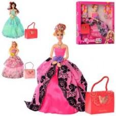 Кукла M 4101 UA 30см, шарнирная, сумочка, 3вида, в кор-ке, 32,5-33-5см