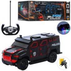 Машина 666-710A р/у,аккум,полиция, 32см,фигурки2шт,открыв.двери,рез.кол,2вид,в кор,39-16-19см