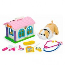 Собака 148-149 ( 20см, плюш, набор доктора, домик, 2 вида, в кульке, 28-21-20см