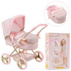 Коляска D-86486 для куклы,58-38-63см,классика,люлька,корзинка,колеса4шт(16см),в кор,56-34-12см