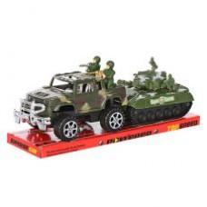 Джип 333 инер-й, 17см, танк (инер-й) 14,5см, солдатики, в слюде, 34-12,5-11см