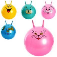 Мяч для фитнеса MS 0480 с рожками, 55см, 600г, 5 видов, в кульке, 17-22-6см