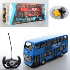 Автобус 666-691A р/у, аккум, 30см, 2этажа, резин.кол, свет, 2цв, в кор-ке, 44-18-14см