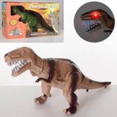 Динозавр 1001A 30см, ходит, подвиж.детали, муз,звук,свет,2цв,на бат,в кор-ке, 15-9,5-26см