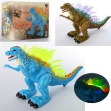 Динозавр 3333 36см, звук, свет, ходит, 2цвета, на бат-ке, в кор-ке, 21,5-11-18см