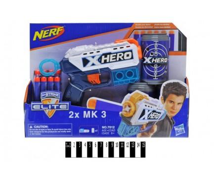 """Пістолет """"NERF"""" на поролонових кулях (коробка) 7012 р.31*5*22см."""