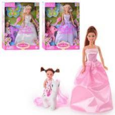 Кукла DEFA 8077 (с дочкой, лошадка, аксессуары, 3 вида, в кор-ке, 32,5-24-6см