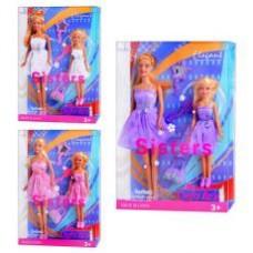 Кукла DEFA 8126 (3 вида, с дочкой, аксессуары, в слюде, 32,5-22-6см