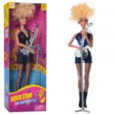 Кукла DEFA 8384-BF шарнирная, гитара, микрофон, 2вида, в кор-ке, 13-32,5-5см