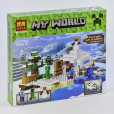 Конструктор Bela My World 10391 Снежное убежище, 327 деталей, в коробке