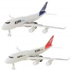 Самолет A380-331-2 инер-й, 30см, 2цвета, в кульке, 29-6-8см