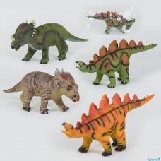 Динозавры музыкальные 88805 / Х017-Х019-Х045 (4 вида, мягкие, резиновые, 52см, 1шт в кульке