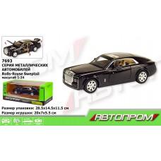 "Машина метал 7693 ""АВТОПРОМ""1:24 Rolls-Royce,батар,свет,звук,двери откр.,в кор.28,5*14,5*11"