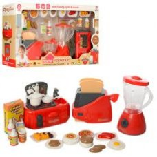 Набор бытовой техники 979-25-26 тостер,продук,муз,свет,2в(комбайн,блендер),бат,кор,40-22-9см