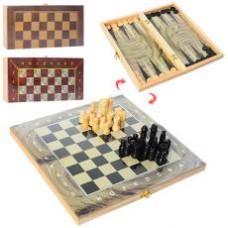 Шахматы 28ACD  3в1(шашки,нарды), 3цвета, в кульке, 27,5-14-3,5см