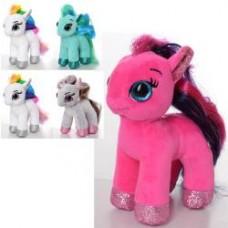 Мягкая игрушка MP 2076 лошадка16см, размер маленький, 4цвета, в кульке