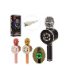 Микрофон X15318 ( аккум, 24см, муз,зв, св,SDслот,USBзарядн,смена голоса,3цв,в кор,28-10,5-8,5см