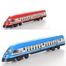 Поезд 2020 инер-й, 36,5см, 2цвета, в кульке, 36,5-7-5см