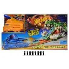 """Трек-запуск """"HOT WHEEL"""" """"Crocodile"""" (+1 машинка) в коробці 3078"""
