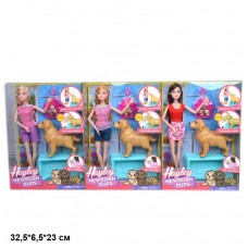 Кукла 28см HB029 с собачкой и новорожденными щенками 3в.кор.32,5*6,5*23