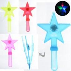 Аксессуары для праздника MK 3310 волшебная палочка,27,5см, свет,бат(таб),4цвета, 27,5-13-2с