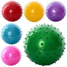 Мяч массажный MS 0663 (5 дюймов, ПВХ, 30г, 6 цветов