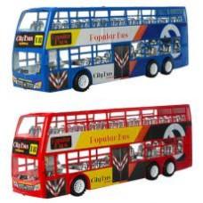 Автобус XY968  инер-й, 38см, двухэтажный, 3вида, в кульке, 38-13,5-8,5см