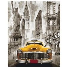 """Набір для розпису по номерах. Міський пейзаж """"Таксі Нью-Йорка"""" 40*50см"""