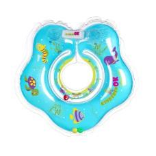 Дитяче надувне коло-комірець для плавання TM KINDERENOK, ПВХ  Sea блакитний