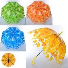 Зонтик детский MK 3627-1 длин82см, трость75см,, диам83см,спица58см,клеенка,прозрач,4цв,в кул