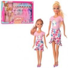 Кукла с нарядом DEFA 8447-BF  29см, дочка 22см, платья8шт, аксесс, 2вида,в кор-ке, 46,5-32-6см