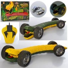 Машина 866-101 р/у2,4G,аккум,трюк, змея60см,резин.колеса, USBзарядн,2вида, в кор-ке,66-36-11см