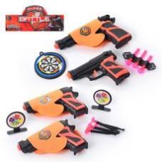 Набор оружия 02-8-03-11 пистолет 2шт, на присосках, кобура,мишень,2 вида,в кульке,27-16-3см