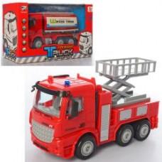 Пожарная машина 999-2-3 инер-я, 18см, 1:40, 2вида(вышка, цистерна), в кор-ке, 22,5-13,5-9см