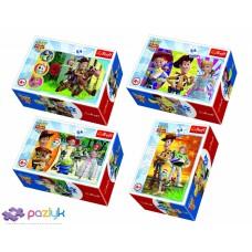 """Пазли - (54 елм. Міні) - """"Граймося разом"""" / (54165) / Toy Story 4 /Trefl"""