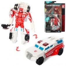 Трансформер A104  13см, робот+машина, на листе, 19-28,5-6см