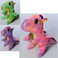 Мягкая игрушка MP 2106 дракон, 21см, 3цвета