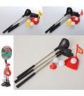 Гольф MR 0043 лунка, клюшки 3шт 27см(металл), мячики 3шт 2,5см, 3вида, в сетке, 30-7-6см