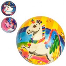 Мяч детский MS 2989 9дюймов, единорог, ПВХ, 50г, микс видов