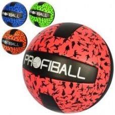 Мяч волейбольный EV 3318 офиц.размер, ПУ, 2мм, 260-280г, 4цвета, в кульке