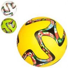 Мяч футбольный VA-0043 размер 5, резина, гладкий, 380-400г, 3цвета, в кульке