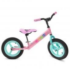 Беговел PROFI KIDS детский 12 д. M 3846A-2 рез.колеса,пластик.обод,розов.-мята