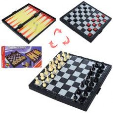 Шахматы THS-066 3в1, магнитные(шахматы), в кор-ке, 19,5-10-3см