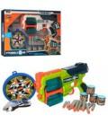 Пистолет Z1122  30см, мягкие пули 24шт, очки, мишени, 2цвета, в кор-ке, 50-38-7см